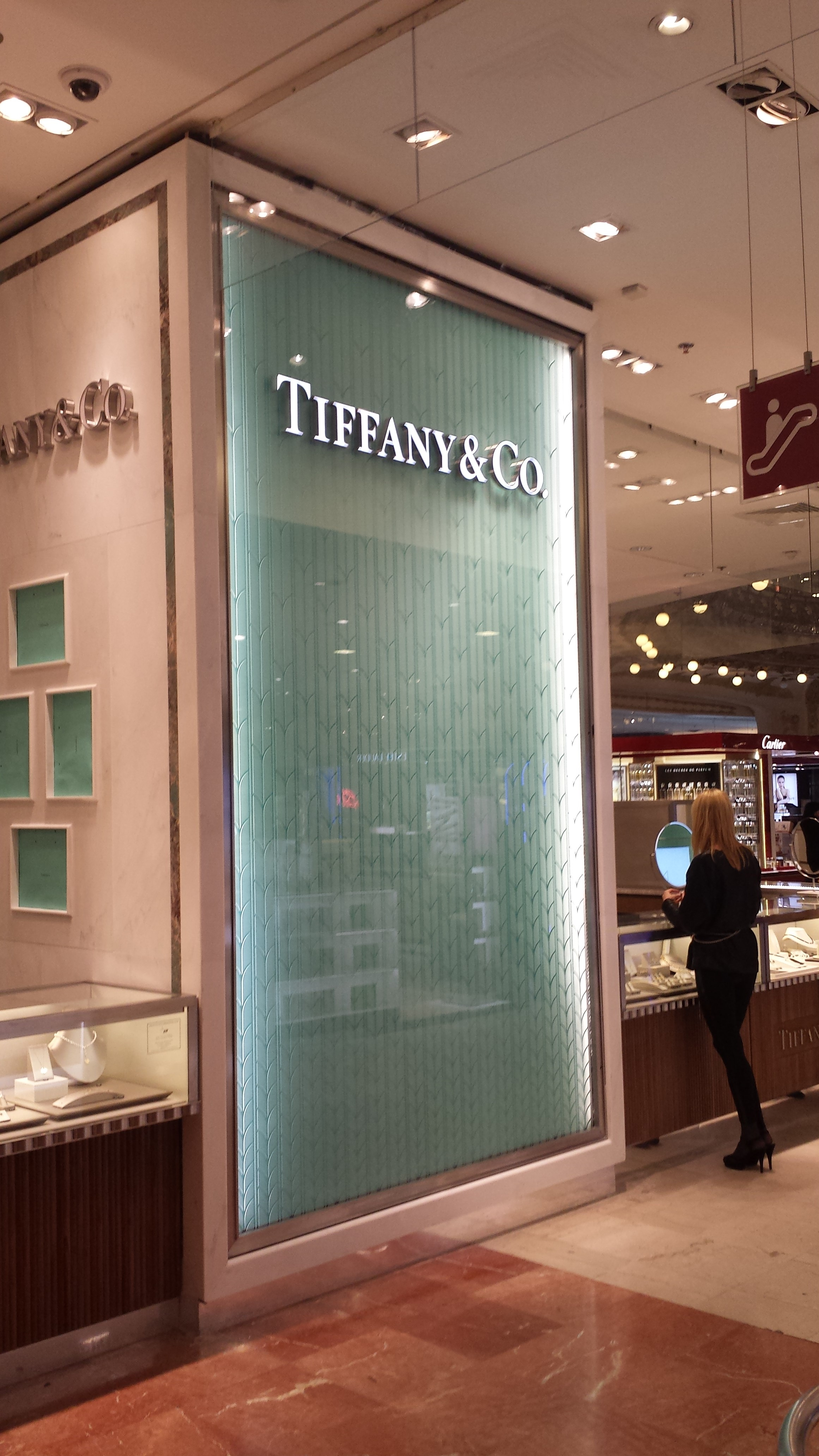 Boutique tiffany / Galerie Lafayette Haussman
